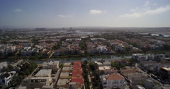 Panoramic aerial view of city of Los Angeles and West Hollywood Stock Footage