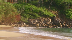 View of waves crashing on seashore Stock Footage