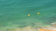 Tourists kayaking in sea Stock Footage