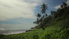 Stock Video Footage of Tropical island greenery on the ocean. Sri Lanka