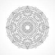 Mandala. Ethnic decorative elements - stock illustration