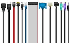 Computer Cables, Connectors, Technology Stock Illustration