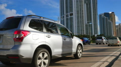 Traffic on Collins Avenue Stock Footage