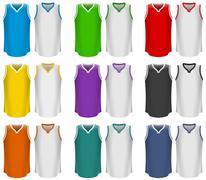 Basketball Jerseys, Basketball Uniform, Sport Stock Illustration