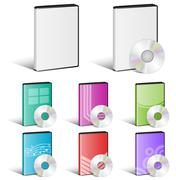 Software Disk, Video Disk, DVD, Cover Designs, CD - stock illustration