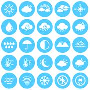 Weather Icons, Climate, Weather Forecast, Seasons - stock illustration