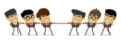 Tug of War, Business, People, Competition - stock illustration