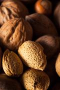 Assorted Mixed Organic Nuts - stock photo
