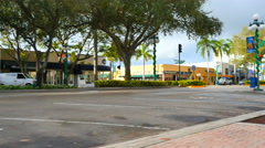 Shopes at Downtown Hollywood FL. Stock Footage