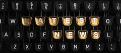 Typewriter with LATEST NEWS buttons Piirros
