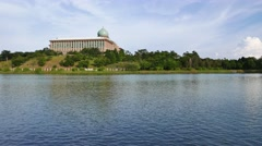 Administration building By The Lake At Putrajaya - stock footage