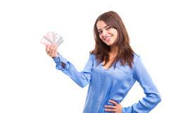 E-commerce concept - Woman Shopping Kuvituskuvat