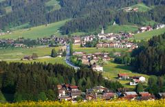 The village of Ellmau in the alps of Austria Stock Photos