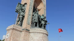 Republic Monument in Taksim Square - stock footage