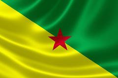 French Guiana's National Flag - stock illustration
