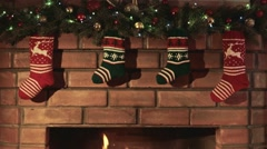 In anticipation of gifts for Christmas - stock footage