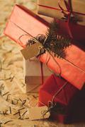 Modern design gift wrap - stock photo