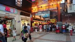 Entrance to the the Wangfujing snack street in Beijing - stock footage