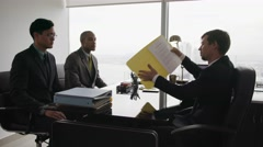 Business Meeting People Having Argument When Signing Contract Stock Footage