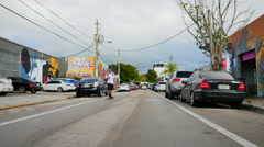 Streets of Wynwood Miami Stock Footage