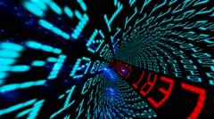 Virus alert in matrix tunnel Stock Footage