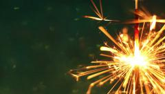 Closeup shot of Firework sparkler burning, Dolly shot Stock Footage