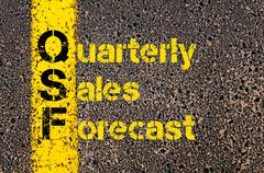 Accounting Business Acronym QSF Quarterly Sales Forecast Stock Photos