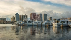 Palm Beach Marina West Palm Beach Florida Time Lapse Stock Footage