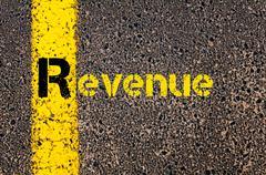 Accounting Business Acronym R Revenue - stock photo