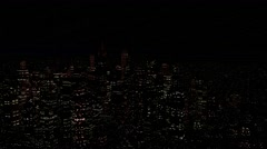 4K Modern City Power Outage Energy Blackout at Night - stock footage