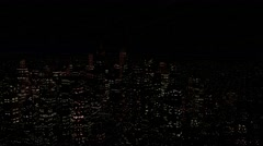Stock Video Footage of 4K Modern City Power Outage Energy Blackout at Night
