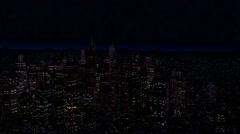 4K Modern City Power Outage Energy Blackout at Night Stock Footage