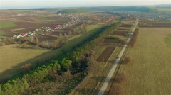 Aerial view of the picturesque villages Stock Footage