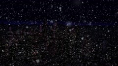 4K Modern City Power Outage Energy Blackout at Night snowfall - stock footage