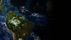 Stock Video Footage of Earth - satellite view