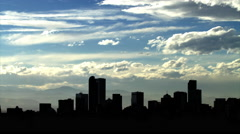Denver Skyline with Fast Clouds - stock footage