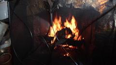 Fireplace 3 - stock footage