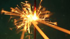 Firework sparkler burning Stock Footage