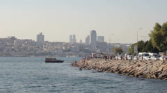 Uskudar Shore in Istanbul Stock Footage