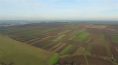 Flight over the fields Stock Footage