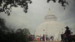 Buddhist temple. Sri Lanka Stock Footage