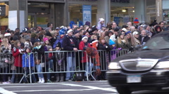 Waiting Macys Parade fans on Thanksgiving 2015 4k Stock Footage