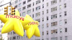 Beginning of Macys 89th annual Thanksgiving Parade 4k Stock Footage