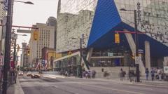 RyersonStudent Centre Yonge Street Toronto Timelapse Medium Stock Footage