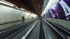 Big tunnel of paulista station in sao paulo city - stock footage