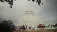 Beautiful Buddhist temple in Asia. Sri Lanka Stock Footage