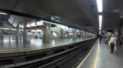 Sé station at the red line in sao paulo city - stock footage