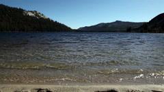 Small Waves On Mountain Lake Low Angle Yosemite California Stock Footage