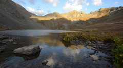 Clear Lake near Silverton San Juan Mountains Stock Footage