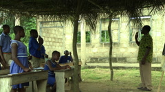 GHANA PAKRO CLASSROOM PROFILE OF TEACHER TEACHING - stock footage
